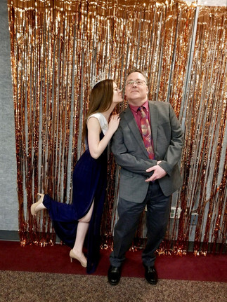 Megan and her Dad at the Daddy Daughter Dance