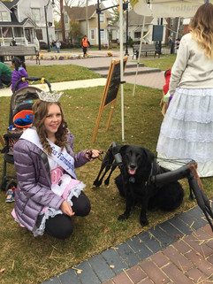 Celebrating Halloween with my spider dog Bella in Downtown Farmington