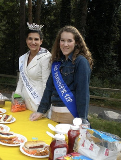 Miss Farmington 2012 and her 2nd runner up at Hay, Hotdogs and S'mores at Heritage Park