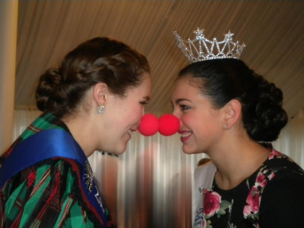 Miss Farmington 2012 with her 2nd runner up at Breakfast with Santa at the Longacre House