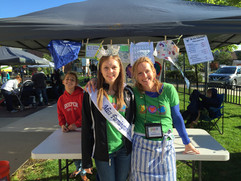 At the Peace, Love and Planet Booth at the market in Downtown Farmington with Gina Levy and her daughter Sydney