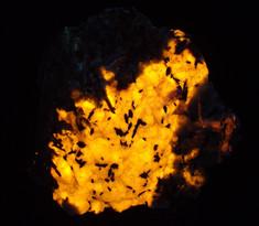 Hackmanite, feldspar, astrophyllite, etc, from Mont Saint-Hilaire, Quebec, Canada