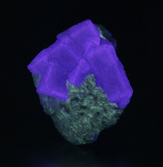 LW violet fluorite from the Rogers Mine, Madoc, Ontario, Canada