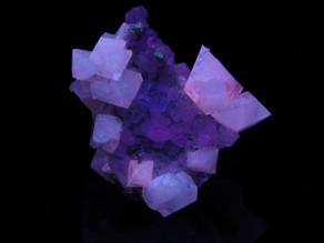 Scheelite, with calcite and fluorite, from Hunan, China