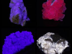 A quatuor of fluorescent fluorites