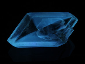 """Selenite with """"Hourglass"""" fluorescence from Alberta, Canada"""