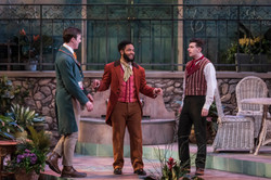 Kevin as Fabian with Raffeal Sears (Sir Toby)  and Phillip Andrew-Monnet (Sir Andrew)