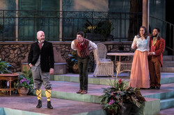 Robert Gerard Anderson (Malvolio) with Kevin, Jess Kadish (Maria) and Raffeal Sears (Sir Toby)