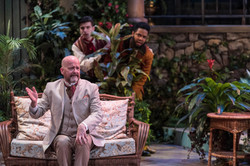 Robert Gerard Anderson (Malvolio) with Kevin and Raffeal Sears (Sir Toby)