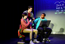 Kevin as Ned, with Rob Chesler and Austin Nelson Jr.
