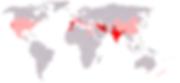 Carte de la production de safran dans le monde en 2006