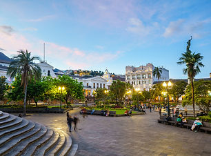 Plaza Grande in old town Quito, Ecuador