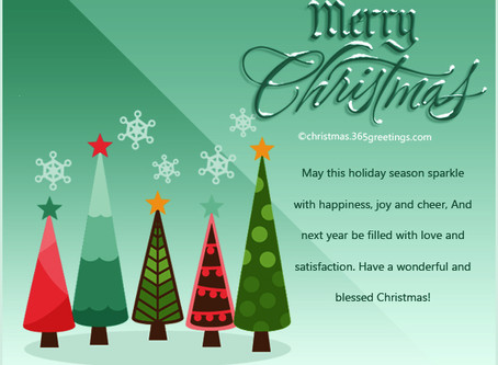 I wish you and your family Merry Christmas and Happy New Year.