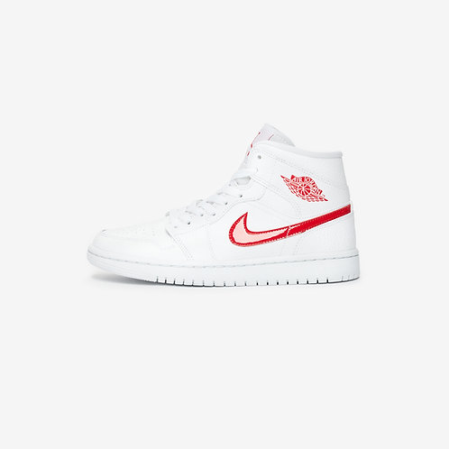 Air Jordan 1 MID - White University Red
