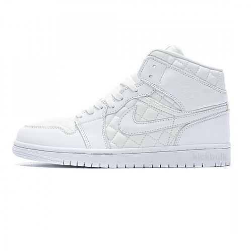 Air Jordan 1 MID - Quilted White