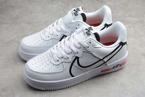 Air Force 1 React - White / Black / Red