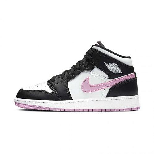 Air Jordan 1 MID - White Black Light Arctic Pink