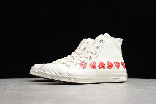 Converse Chuck TaylorAll-Star 70S High - White Multi Heart