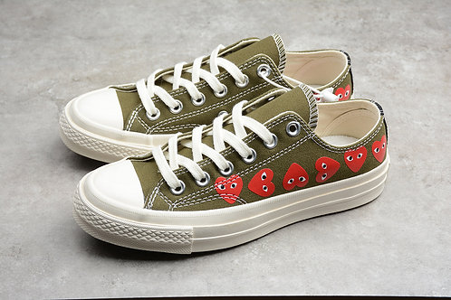 Converse Chuck TaylorAll-Star 70S Low - Brown Multi Heart