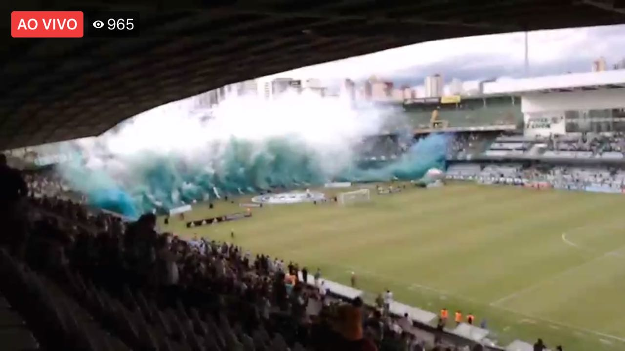 Smoke Color - Jogo do Coritiba