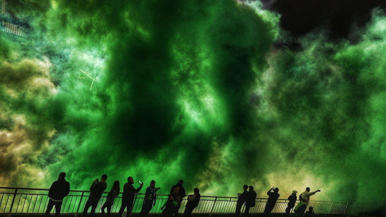 Fumaças coloridas - Fogos Caruaru