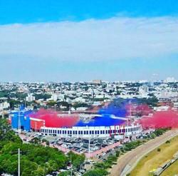 Fumças coloridas Estádio