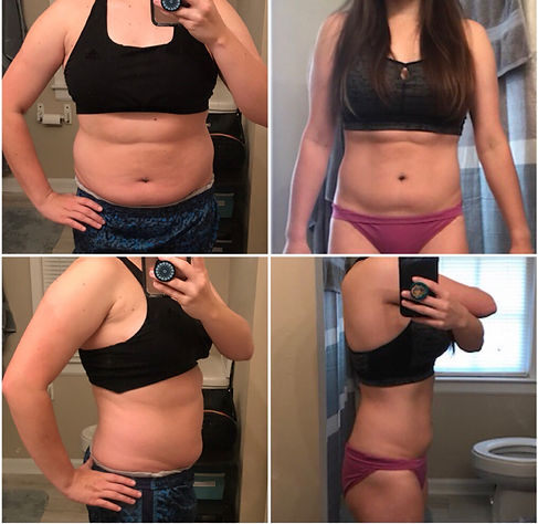 Kayla 6 week challenge before & after ph