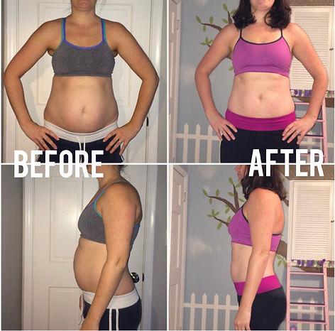 Mellisa 6 week challenge before & after.