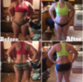 Jessica 6 week challenge before and afte