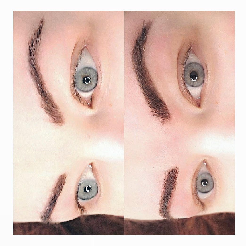 Henna Brow Design over Microblading