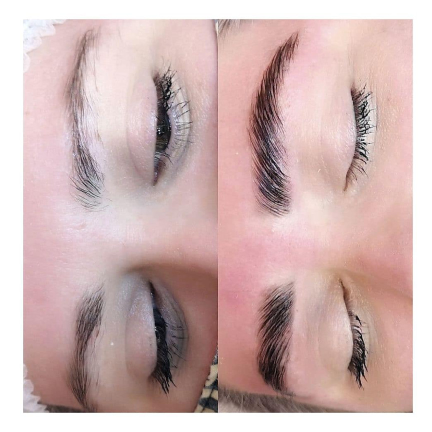 LED Brows with precision tint