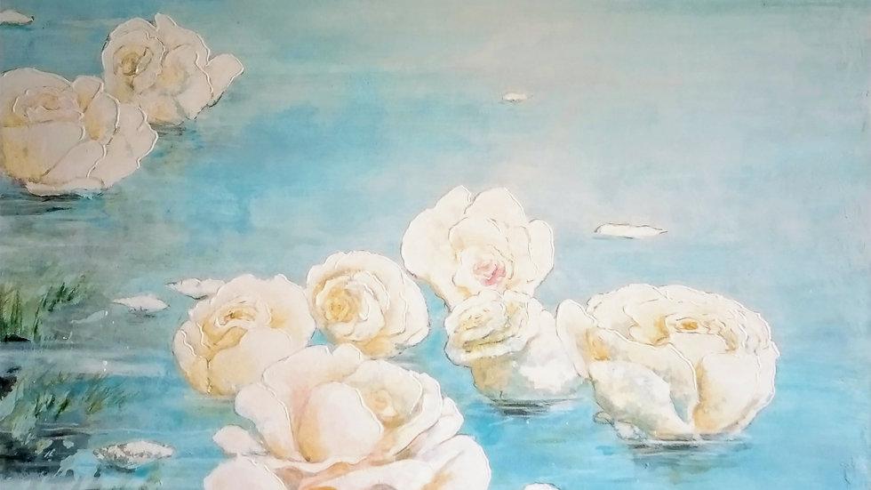 """""""Lâcher prise des roses blanches"""""""