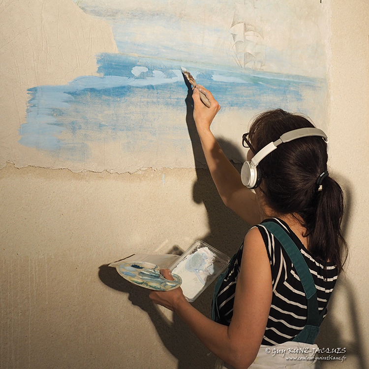 Lillia, fresque, Paris, Peintre déco