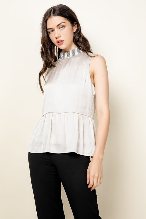 Knit Neck Sleevless Top