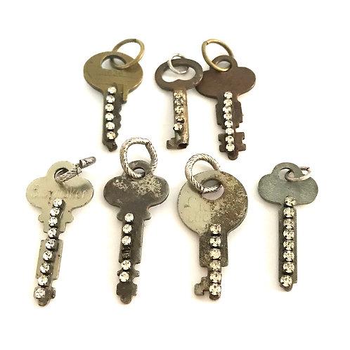 Vintage Skeleton Key w/Bling