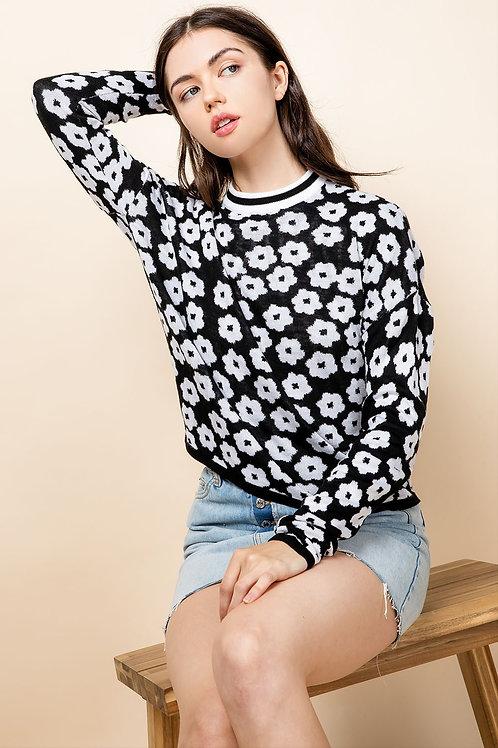 Flower Crewneck Sweater