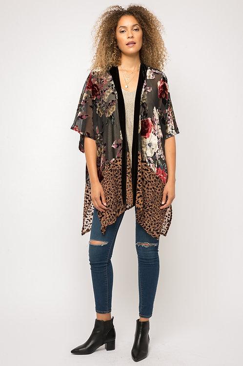 Burn Out Velvet Kimono