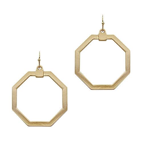 Open Hexagon Earrings