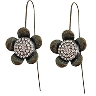 Antique Bronze Flower Earrings