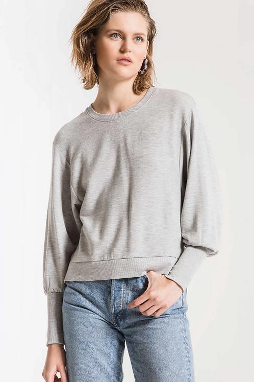 Premium Fleece Puff Sleeve Top