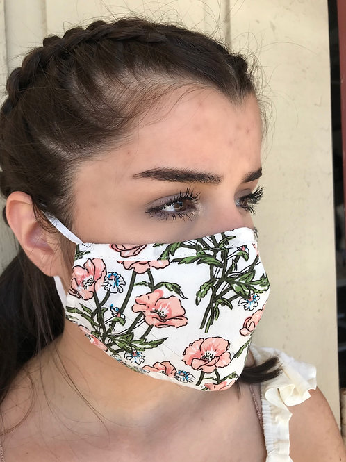 Floral Print Mask