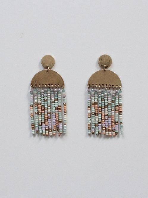 Seed Bead Tassel Earring