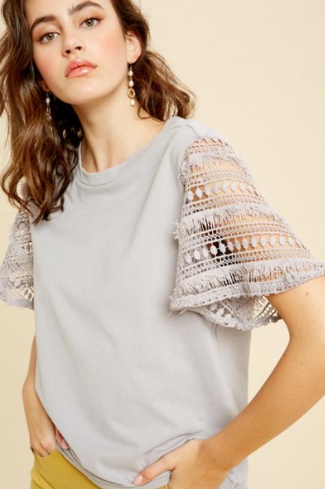 Crochet Bell Sleeve Tee