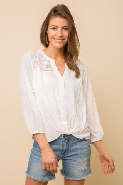 Lace Detail Shoulder Top