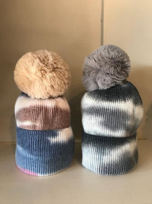 Tie Dye Pom Hat
