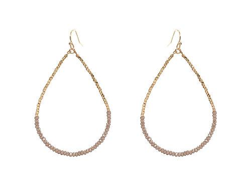 Gold & Crystal Teardrop Earring