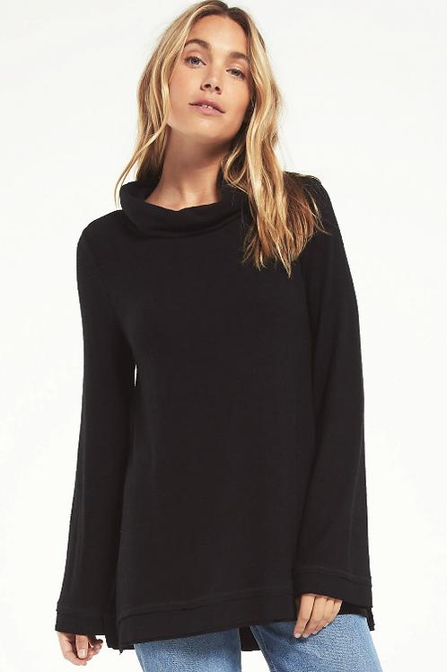 Ali Cowl Sweater Slub Pullover