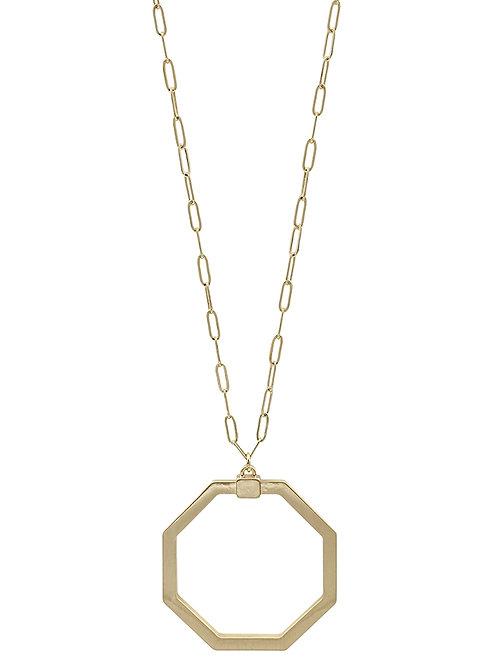 Open Hexagon Necklace