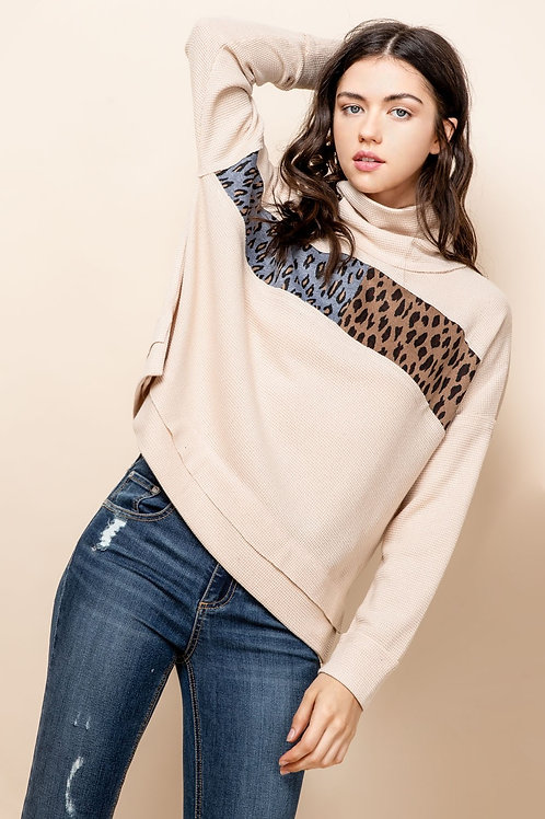 Leopard Detail Thermal Top
