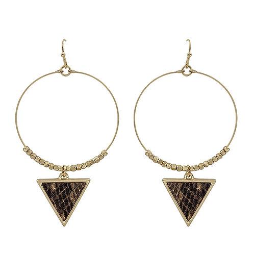 Hoop w/Triangle Drop Earring